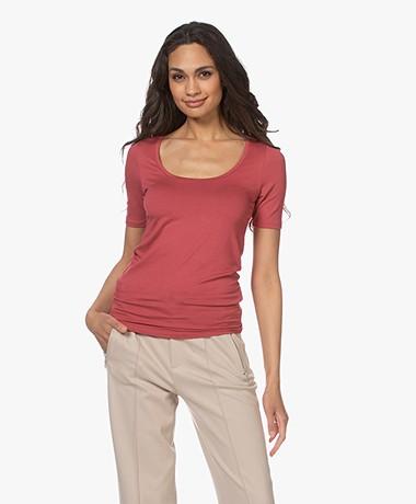 Majestic Filatures Soft Touch U-hals T-shirt - Blush