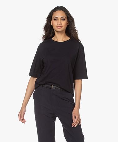 Filippa K Clara Round Neck T-shirt - Navy
