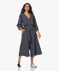 Closed Zoey Cropped Viscosemix Jumpsuit - Thunder Sky