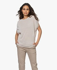 no man's land Lurex Short Sleeves Sweater - Sand