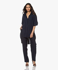 Woman by Earn Miep Crepe Blouse - Navy