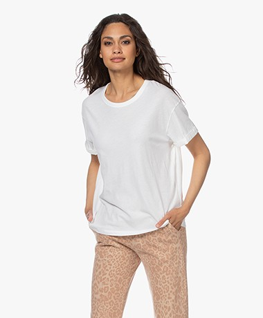Drykorn Larima Katoenen T-shirt - Wit
