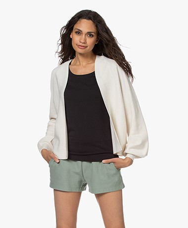 Drykorn Manui Cotton and Cashmere Blend Cardigan - Off-white