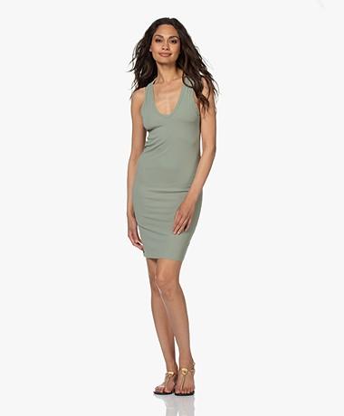 Rag & Bone Zoe Deep Jersey Dress - Green Fog