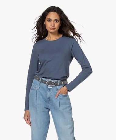 Closed Cotton Long Sleeve - Blue Slate