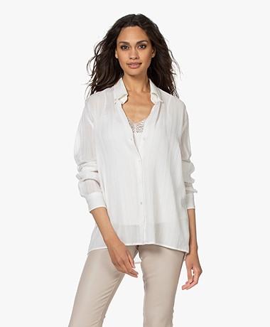 Vanessa Bruno Druyat Voile Striped Shirt - Off-white