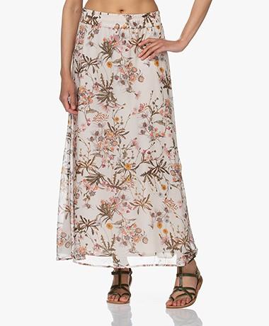 Drykorn Gasira Floral Print Viscose Skirt - Off-white