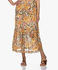 ba&sh Diary Cotton Floral Print Skirt - Ocre