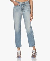 Drykorn Mom Stretch Lyocell Mix Jeans - Blauw