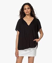Closed Oversized Slub Jersey T-shirt - Zwart
