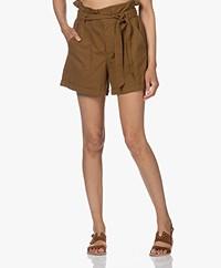 Mes Demoiselles Croft Cotton Paperbag Shorts - Khaki