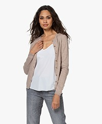 Resort Finest Lucca Basic Cashmere Cardigan - Taupe