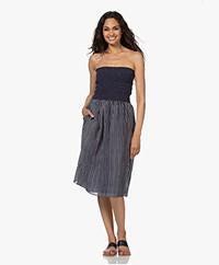 Rag & Bone Aster Smocked Dress with Stripes - Blue/White