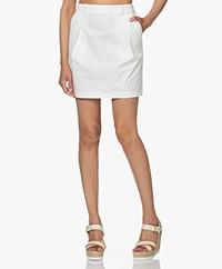 ba&sh Vanessa Cotton Mini Skirt - White