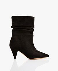 IRO Theke Suede Ankle Boots - Black