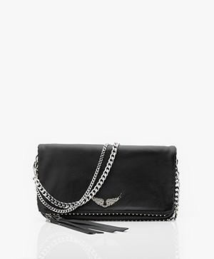 Zadig & Voltaire Rock Studs Shoulder Bag/Clutch - Black