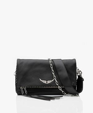 Zadig & Voltaire Rocky Studs Leather Cross-body/Shoulder Bag - Black