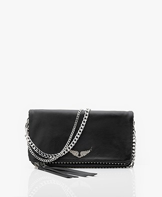 Zadig & Voltaire Rock Studs Shoulder Bag/Clutch - Black