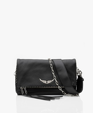 Zadig & Voltaire Rocky Studs Leather Cross-body/Shoulder Bag - Black