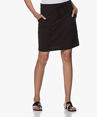 JapanTKY Ryon Travel Jersey Utility Skirt - Deep Black