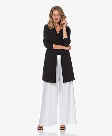 JapanTKY Luna Long Travel Jersey Blazer - Deep Black