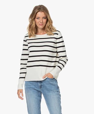 Sibin/Linnebjerg Eloise Milano Striped Sweater - Off white/Black