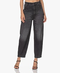 Drykorn Mind Relaxed-fit Cropped Jeans - Donkergrijs
