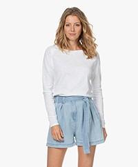 American Vintage Sonoma Slub Sweatshirt - White