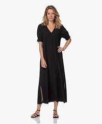 JapanTKY Arky Travel Jersey Maxi Dress - Deep Black