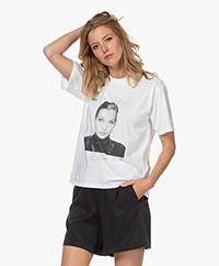 ANINE BING Ida Terry O'Neill T-shirt - Wit