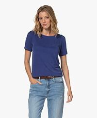 Plein Publique La Poppy Modalmix Piqué T-shirt - Kobalt