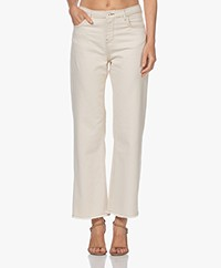 by-bar Mojo Raw-edge Rechte Cropped Jeans - Off-white