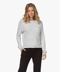 American Vintage Damsville Wool Blend Round Neck Sweater - Heather Grey