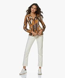 American Vintage Snopdog Mom Jeans - Ecru