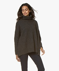 Sibin/Linnebjerg Tallulah Lurex Turtleneck Sweater - Army