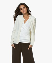 Repeat Luxury Cashmere Short Cardigan - Cream