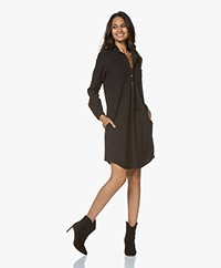 Woman by Earn Ted Tech Jersey Shirt Dress - Black