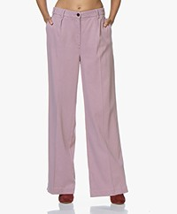 ba&sh Mitch Loose-fit Pleated Twill Pants - Parme