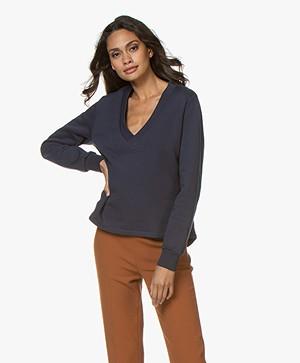 Closed Oversized V-hals Sweater - Dark Night