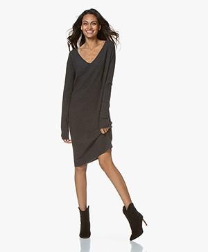 Drykorn Elmina Fine Knit Dress from Wool - Dark Grey Melange