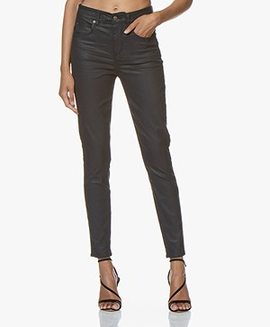 Drykorn Wet Coated Skinny Jeans - Deep Dark Blue