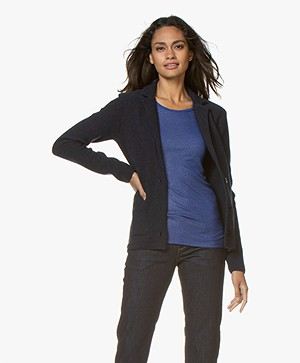 Belluna Fiore Wool Blend Blazer Cardigan - French Blue