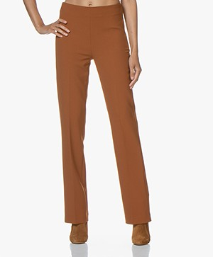 no man's land Pants with Straight Legs - Cinnamon
