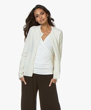 Repeat Luxury Cashmere Short Cardigan - Cream