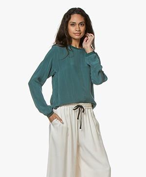 Drykorn Debra Cupro Blouse - Emerald Green