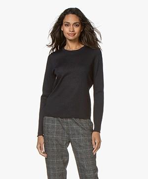 Josephine & Co Goldie Lurex Sweater - Navy