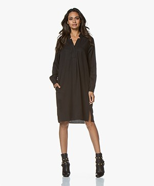 Repeat Tencel Tunic Dress - Black