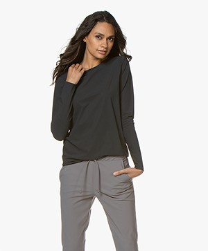 Woman by Earn Denise Tech Jersey Longsleeve - Donkergrijs