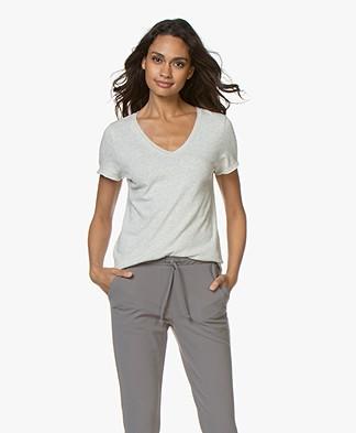 American Vintage Sonoma Slub Jersey T-shirt - Polar Mêlee