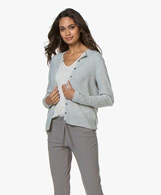 Repeat Luxury Cashmere Short Cardigan - Light Grey